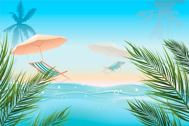 現実的な夏の背景