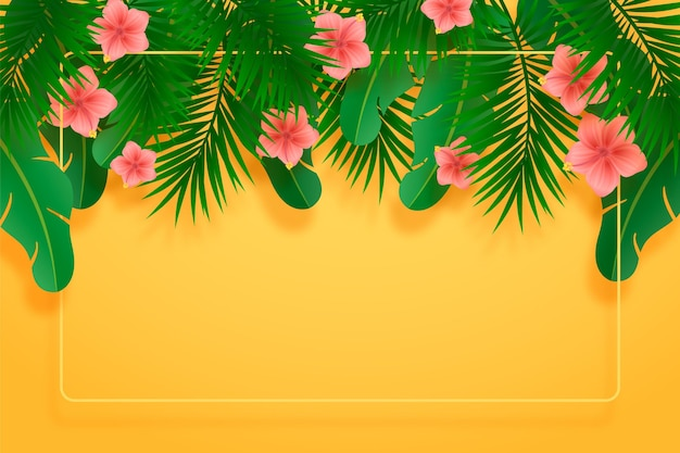 Realistic summer background