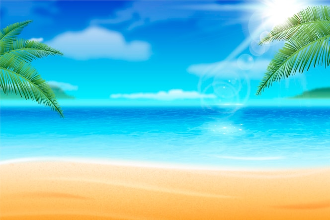现实夏天背景