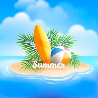 リアルな夏のイラスト