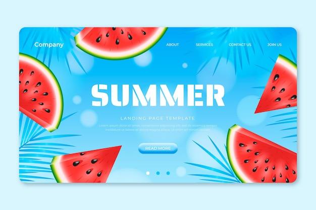 현실적인 여름 방문 페이지 템플릿