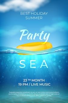 Realistic summer poster illustration