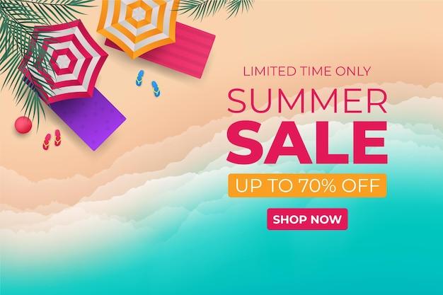 Illustrazione realistica di vendita estiva