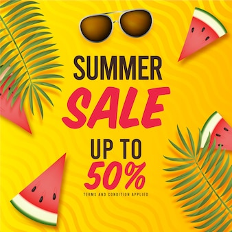 Realistic summer sale
