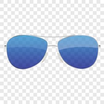 Realistic sun glasses icon
