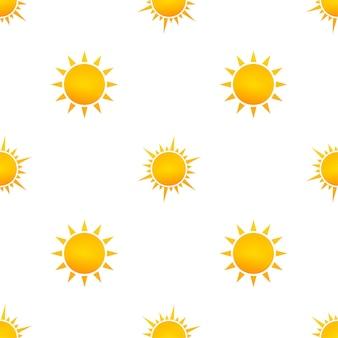 Реалистичный образец солнца для дизайна погоды на белом фоне. векторная иллюстрация.