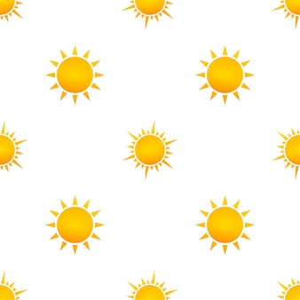 Realistic sun pattern for weather design on white background. vector illustration.
