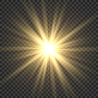 現実的な太陽光線。