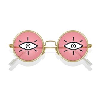 Реалистичные солнцезащитные очки в цветной оправе