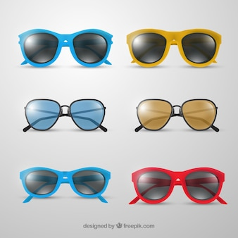 Realistic sunglasses collection