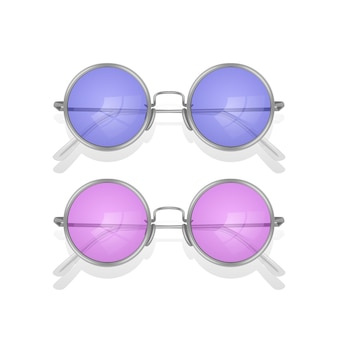 고립 된 현실적인 선글라스