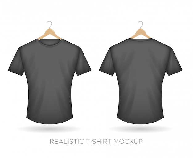 Realistic t-shirt gray