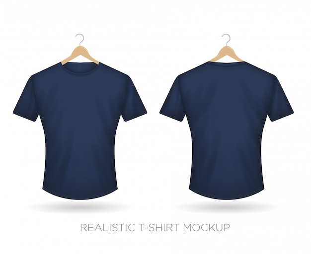 Realistic t-shirt navy blue