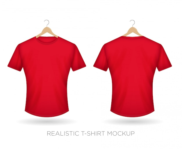 Realistic t-shirt red