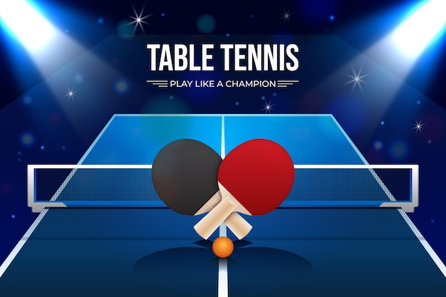 Realistic table tennis background
