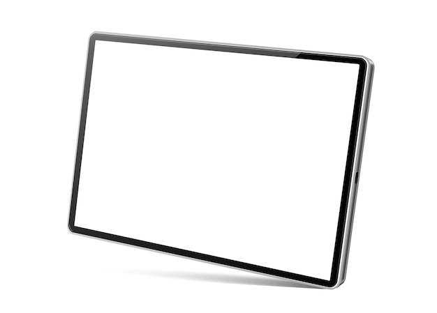 Realistic tablet computer blank tablet device