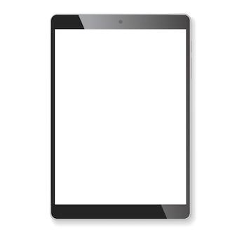 Realistic tablet portable computer mockup