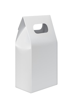 Realistic take away paper bag with copy space