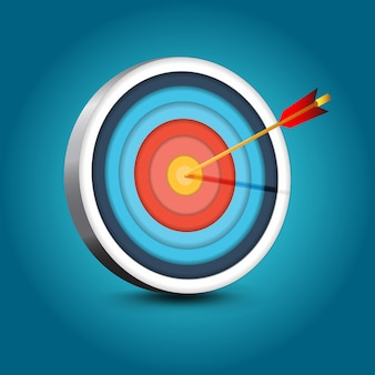 Realistic target with arrow