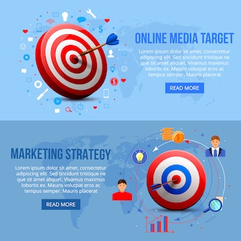 Banner di marketing con targeting realistico