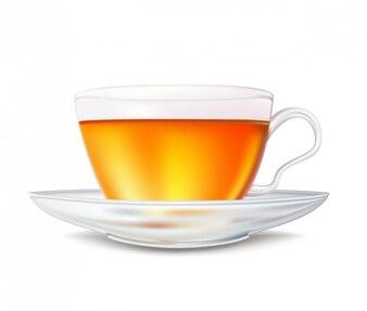 Realistic tea cup