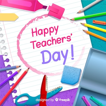 Realistic teachers day background