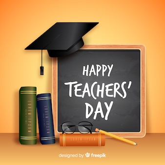 Realistic teachers' day concept