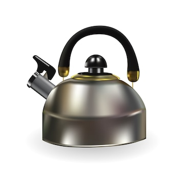 Realistic teapot isolated