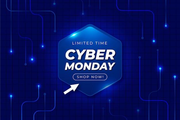 Priorità bassa di cyber lunedì di tecnologia realistica