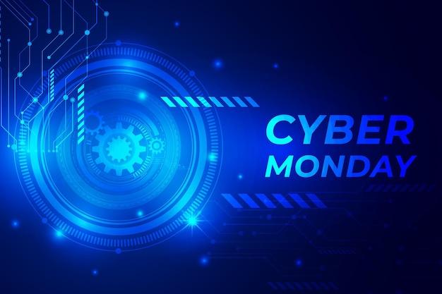 현실적인 기술 사이버 월요일 배경