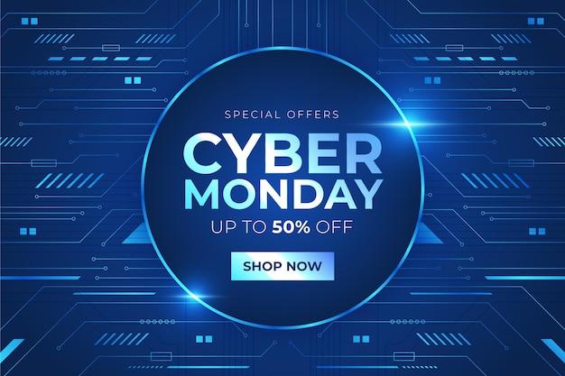 Concetto di cyber lunedì tecnologia realistica