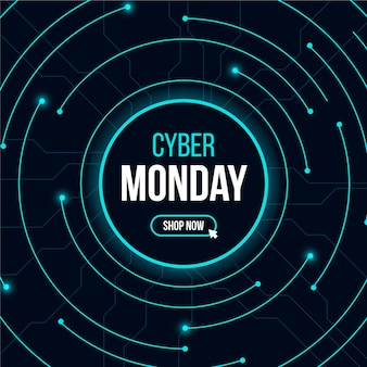 Realistic technology cyber monday