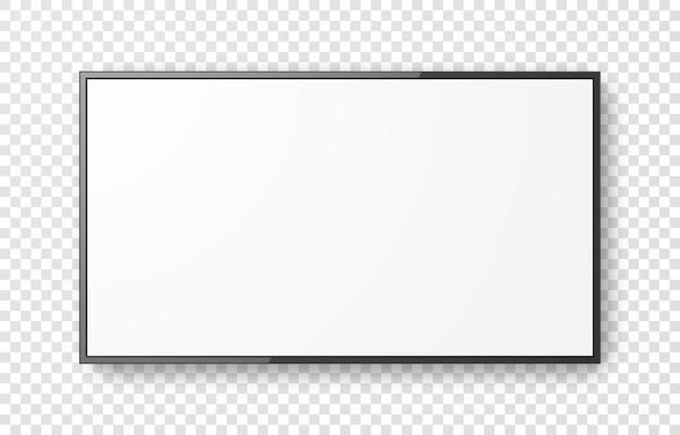 Реалистичный экран телевизора на прозрачном фоне