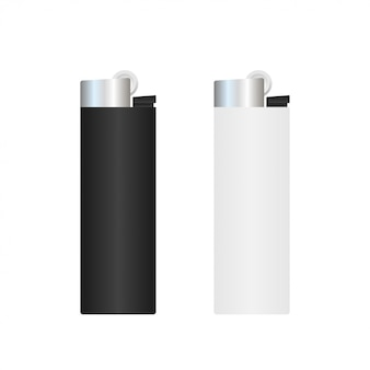 Realistic template blank white lighter