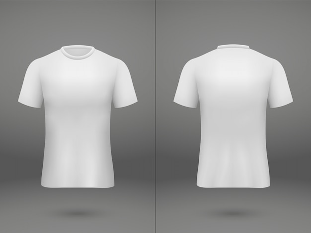 Realistic template soccer jersey t-shirt on shop