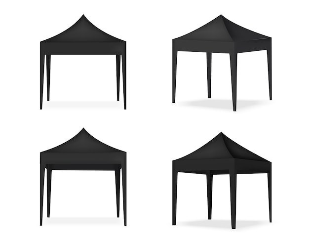 Реалистичная палатка для продажи, выставка маркетингового продвижения