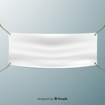 Realistic textile banner