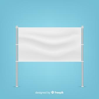 Realistic textile banner