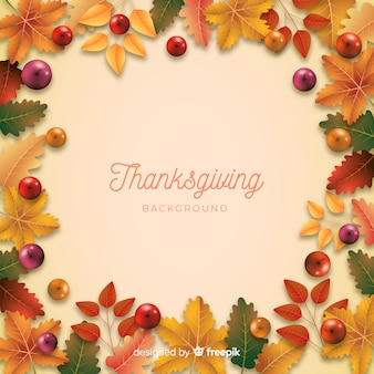 Realistic thanksgiving background