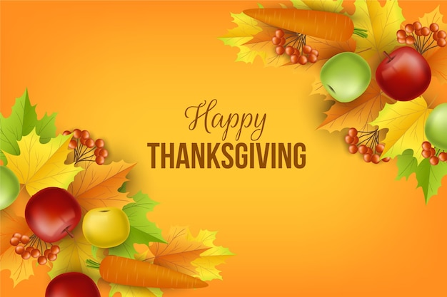 Реалистичный фон благодарения