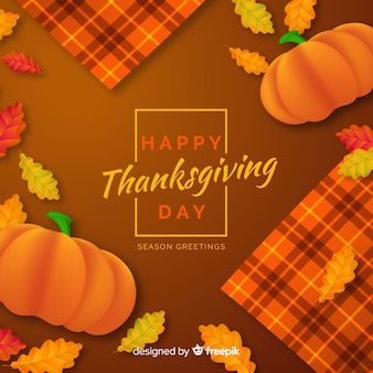 Realistic thanksgiving day background