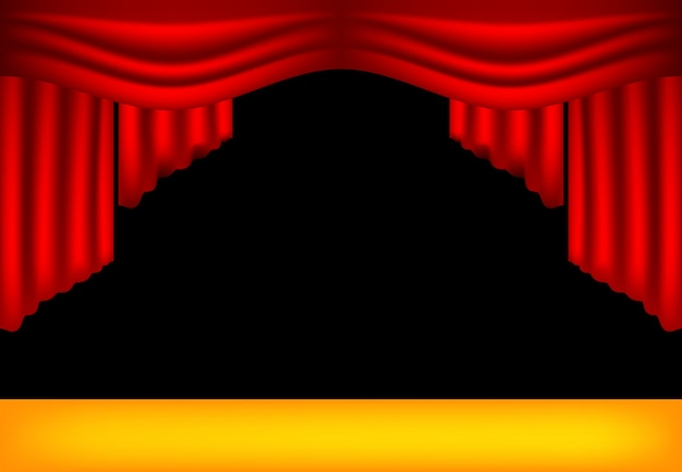 Realistic theater curtains