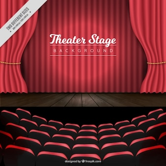 Realistic theater stage background