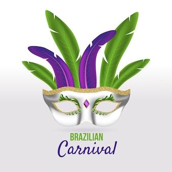 Realistic theme for brazilian carnival event