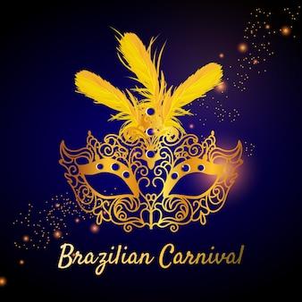 Realistic theme for brazilian carnival