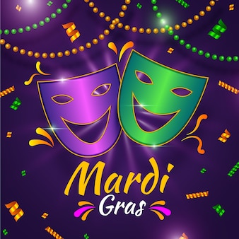 Realistic theme for mardi gras event