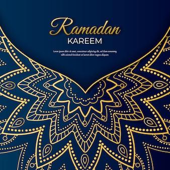 Realistic theme for ramadan