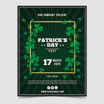 Realistic theme of st. patricks day flyer template