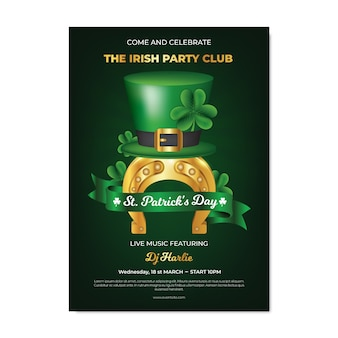 Realistic theme with st. patricks day flyer template