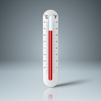 Realistic thermometer